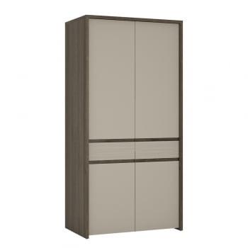 Furniture to go Aspen two door tall cupboard led wardrobe