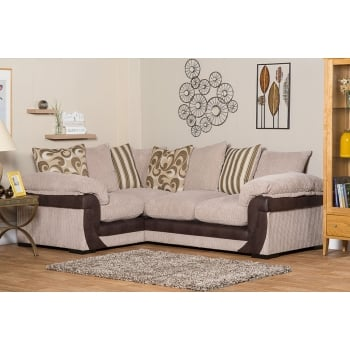 Mason and pearl Lola beige corner fabric sofa, right hand