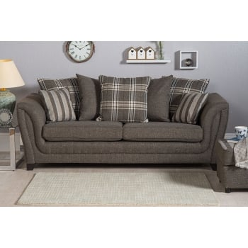 Mason and pearl Stanley grey 3 seater fabric sofa