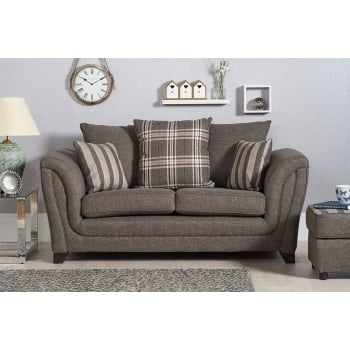 Mason and pearl Stanley grey 2 seater fabric sofa