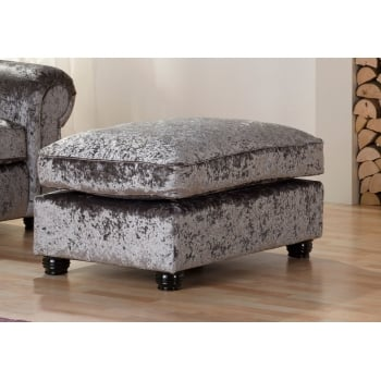 Mason and pearl Madison silver crushed velvet footstool
