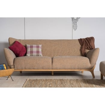 Mason and pearl Wesley oatmeal 3 seater fabric sofa