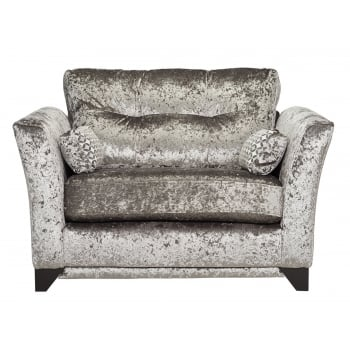 Mason and pearl Vesper silver crushed velvet armchair