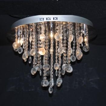 All home marbella 12 light semi flush crystal pendant