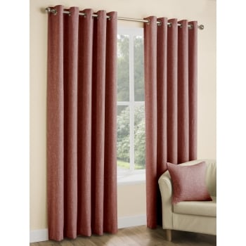 Belfield furnishings Huxley spice woven readymade eyelet curtains