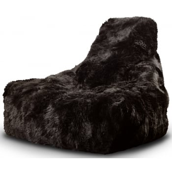 Extreme lounging Mighty b brown fur beanbag