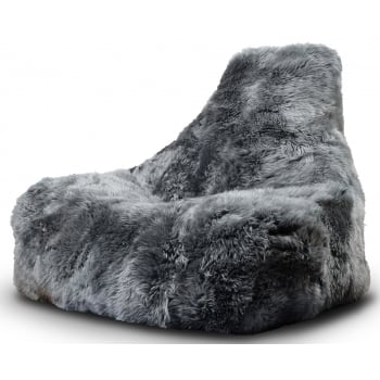 Extreme lounging Mighty b grey fur beanbag