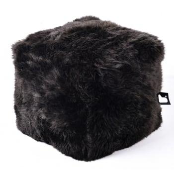 Extreme lounging B box brown fur pouffe