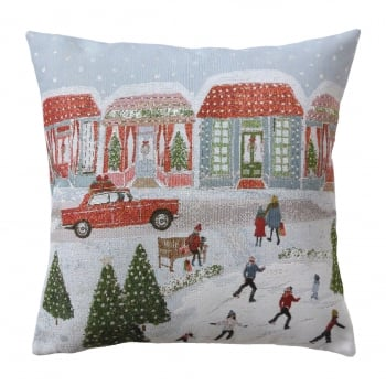 Belfield furnishings Xmas driving home cushion canvas.