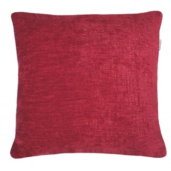 Style furnishings Maurice Red chanille cushion cover 43cm