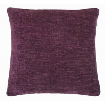 Style furnishings Maurice Aubergine chanille cushion cover 43cm