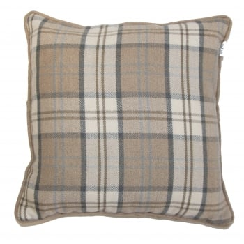 Style furnishings Lewis latte piped cushion cover, 43cm