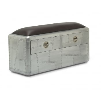 Aviator two drawer bench