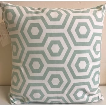 Style furnishings Hex aqua cushion cover 43cm