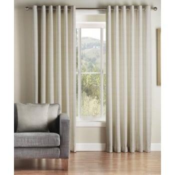 Montgomery Addo stone readymade eyelet curtains