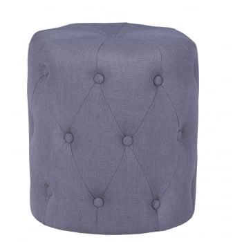 Emporium home Libra grey buttoned fabric stool