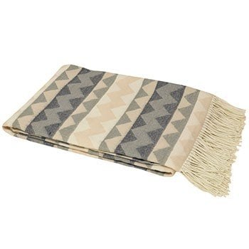 aztec chevron designed throw