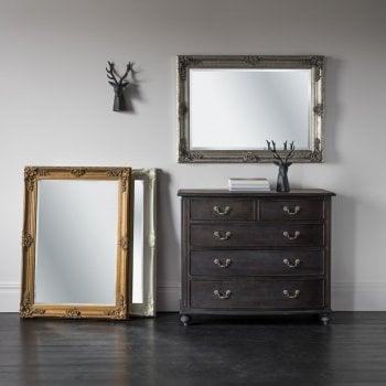 Abbey Rectangle Mirror Cream