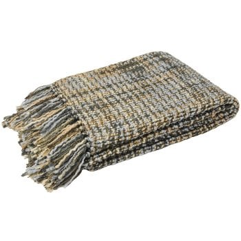 Riva paoletti Baoli duckegg knitted throw