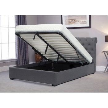 Emporia beds Balmoral grey fabric ottoman bed