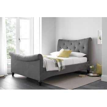 Kaydian Tyne artemis elephant grey curved bed