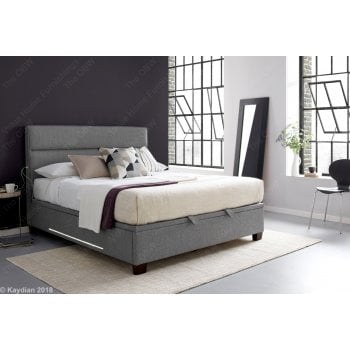 Kaydian Chilton artemis elephant grey usb and led bed