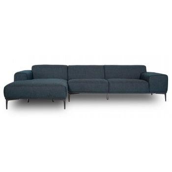Mason and pearl Jasper denim blue fabric corner sofa, left hand