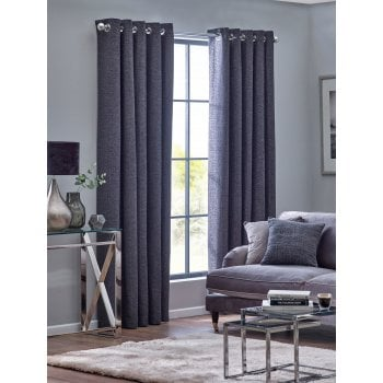 Belfield furnishings Orion graphite embroidered readymade eyelet curtains