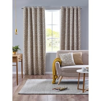 Belfield furnishings Pippa ochre floral readymade eyelet curtains