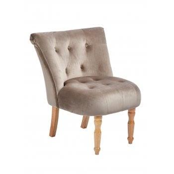 Lpd furniture Lydia cappucino velvet fabric accent chair