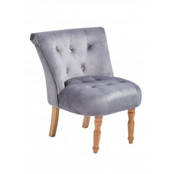 Lpd furniture Lydia silver velvet fabric accent chair