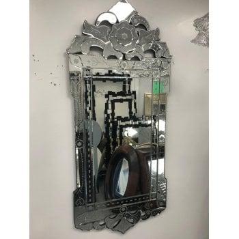 All home marbella Valentina decorative crystal mirror 67 x 150cm