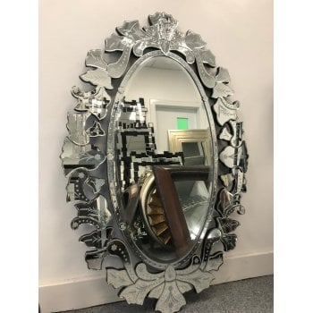 All home marbella Valentina decorative crystal mirror 100 x 150cm