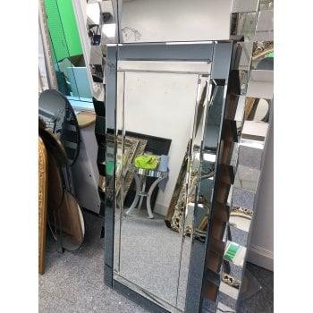 All home marbella Narrow grey decorative mirror