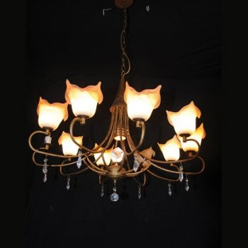 All home marbella 5192- 11 light antique copper chandelier