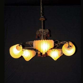All home marbella 5131 5 light antique copper chandelier