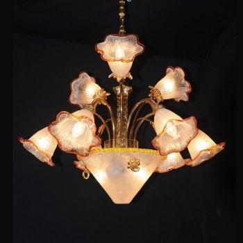 All home marbella 5031 12 light brass chandelier
