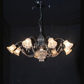 All home marbella 5203 12 light crystal pendant chandelier