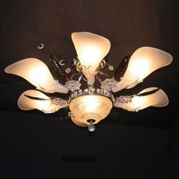 All home marbella 5052 7 light semi flush pendant