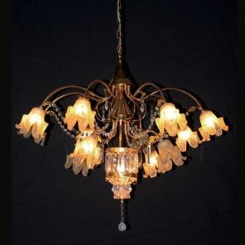 All home marbella 5181 13 light gold chandelier