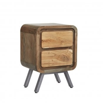 Indian hub Aspen 2 drawer lamp table