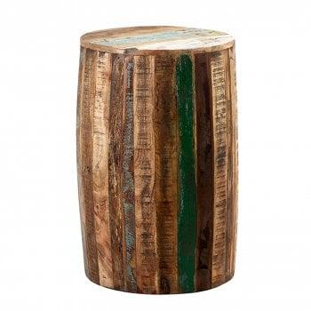 Indian hub Coastal drum stool