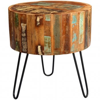 Indian hub Coastal drum side table