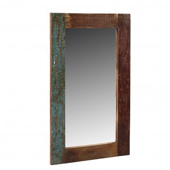 Indian hub Coastal rectangular mirror