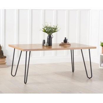 Mark harris Archie 180cm industrial ash dining table