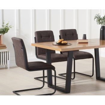 Olina 160cm industrial dining table