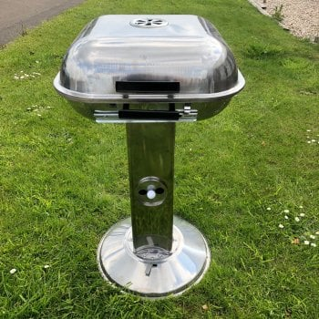 All home marbella Stainless steel chrome charcoal barbecue