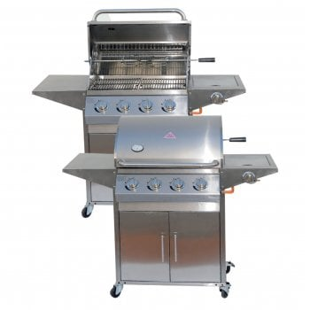 All home marbella Stainless steel Four burner gas bbq