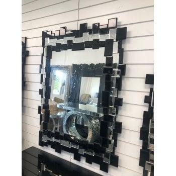 All home marbella Skittle black small mirror 88 x 123cm