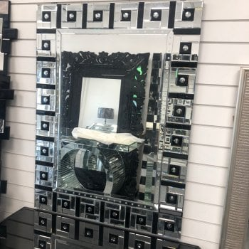 All home marbella Square in a square black and clear rectangular mirror 90cm x 120cm